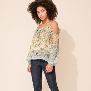 YUMI KIM Adore Me Cold Shoulder Top Fleur Melody